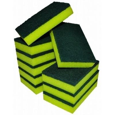 Sponge Scourer Yellow/Green 15 x 10cm