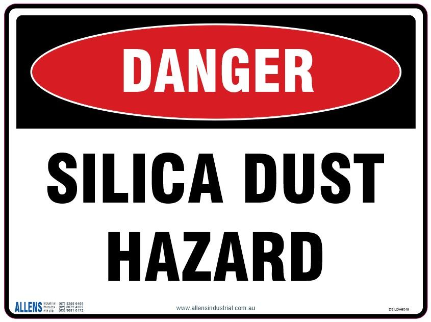 Silica Dust Hazard Sign 600x450 Poly