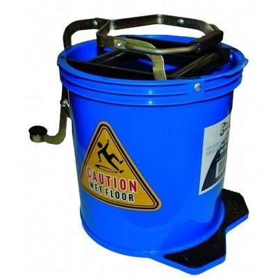 Wringer Mop Bucket With Metal Action Blue