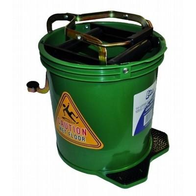 Wringer Mop Bucket With Metal Action Green