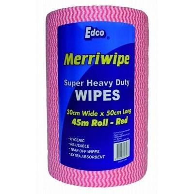 Merriwipe Roll Red 45m