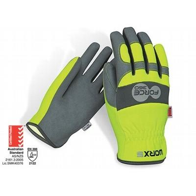 Force360 Worx5 Original Fast Fit HiVis Mechanics Glove