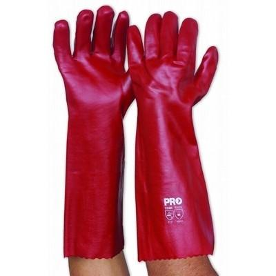 Red PVC Glove 45cm
