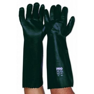 Green PVC Glove Double Dipped 45cm