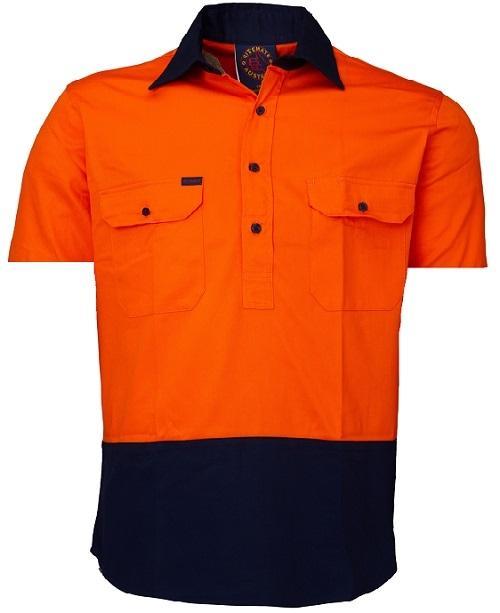 Short Sleeve Standard Weight Closed Front Drill Shirt