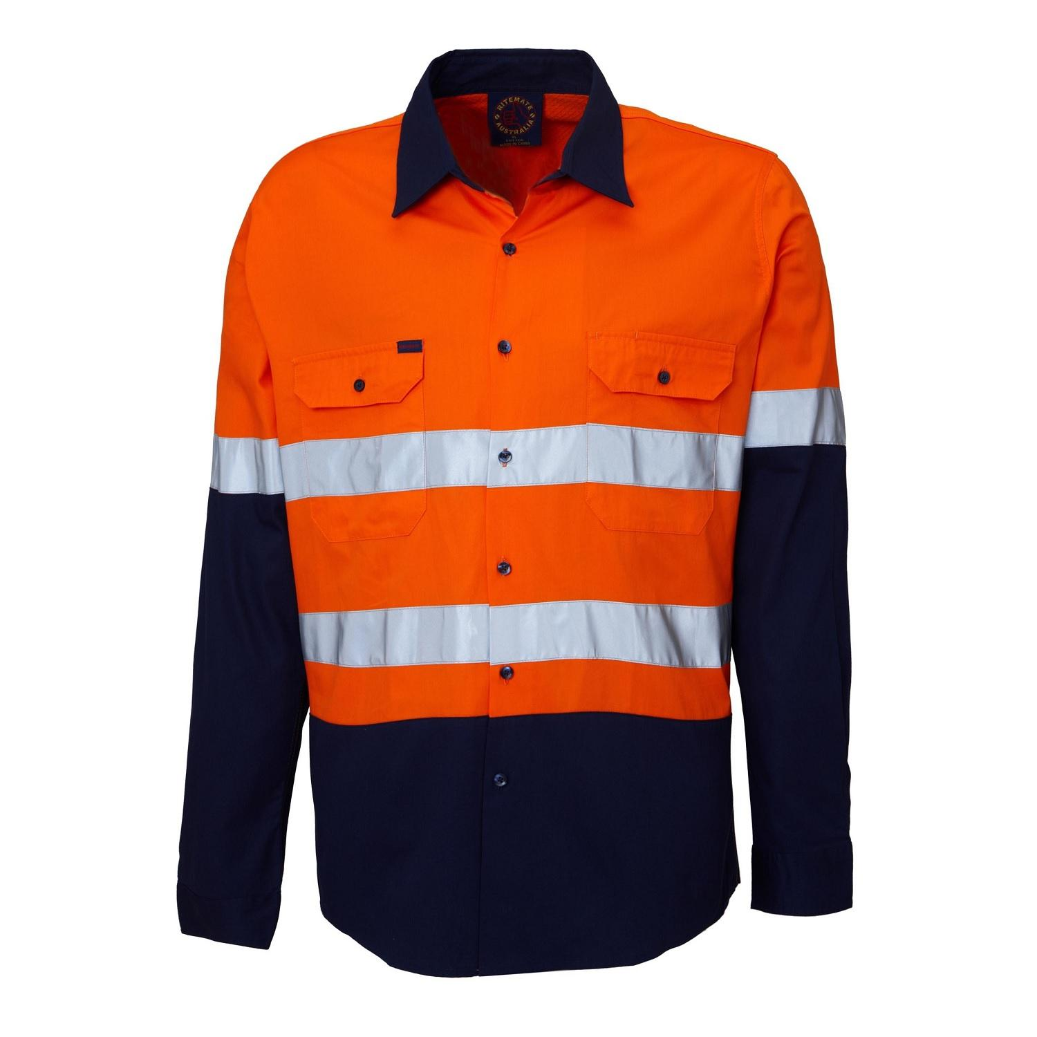 RITEMATE RM107V2R - Long Sleeve Light Weight Vented Drill Shirt