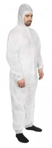 Combat Disposable Polypropylene Coverall White