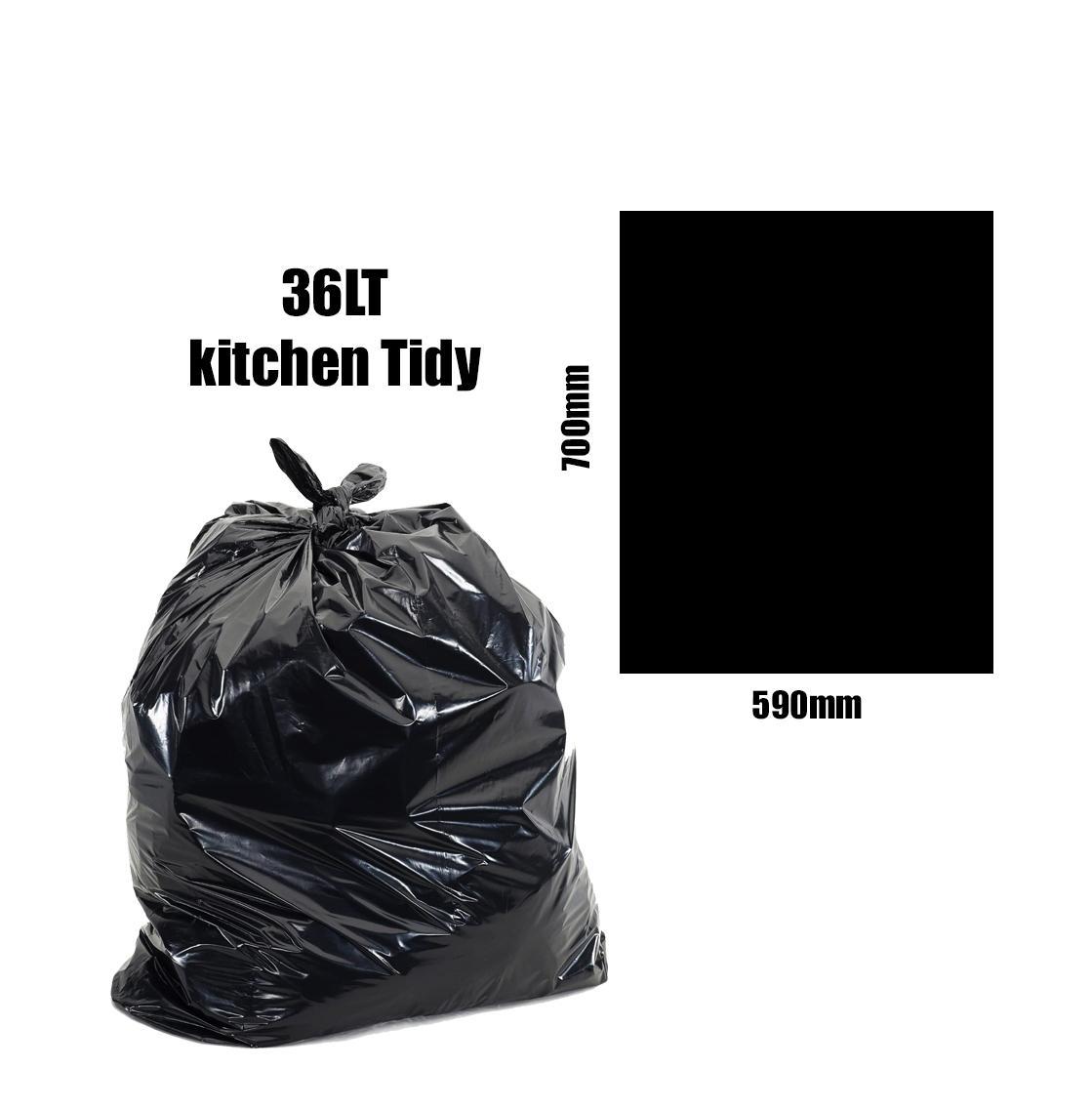 Kitchen Tidy Liners 36lt Black Carton 1000pk