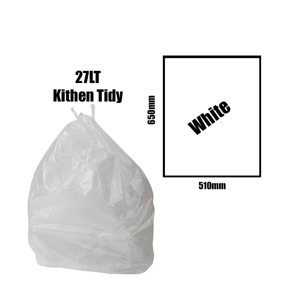 Kitchen Tidy Liners 27lt White Carton 1000pk