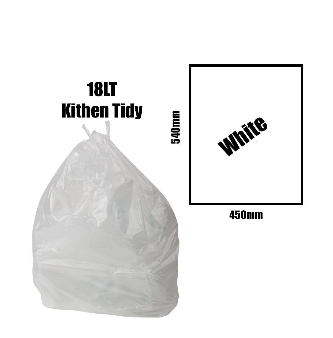 Kitchen Tidy Liners 18lt White Carton 1000pk