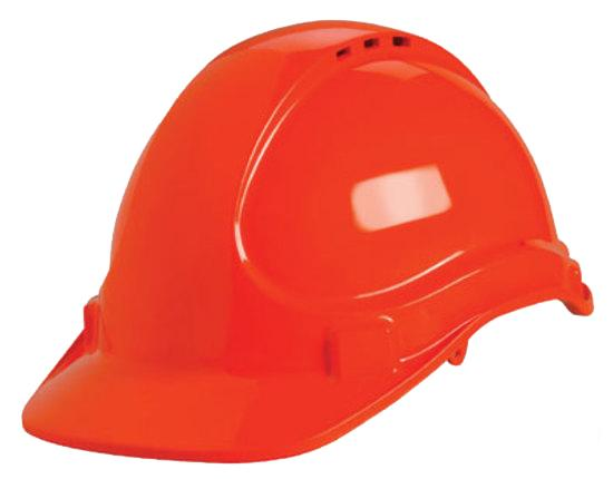Unilite Safety Helmet  Vented Red