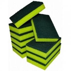 Sponge Scourer Yellow/Green 15 x 10cm