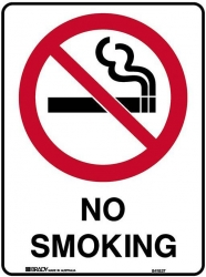 Sticker - No Smoking 250x180mm