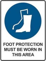 Foot Protection Must Be Worn In This Area 450x300
