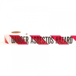 "Danger Asbestos Hazard"" Barrier Tape 300m"""