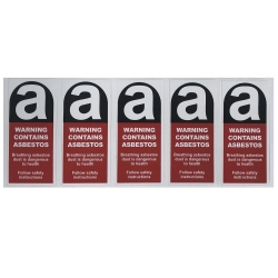 Sticker Warning Cont. Asbestos 50x110mm