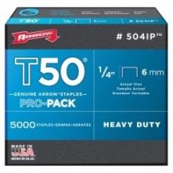 Arrow T50 Staples 6mm 5000pack
