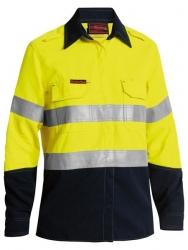 LADIES Long Sleeve Standard Weight Vented Flame Retardant Shirt