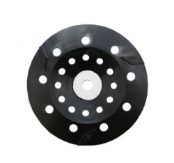 250mmRhomboid Dia.wheel 3 seg.Black