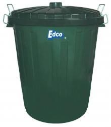Plastic Garbage Bin 73lt With Lid  Green