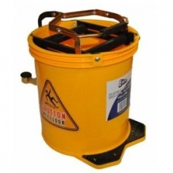 Wringer Mop Bucket With Metal Action Yellow