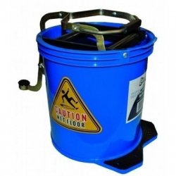 Wringer Mop Bucket With Metal Action Blue - Click for more info