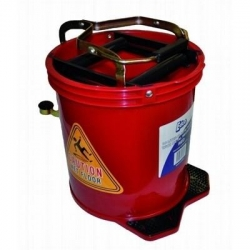 Wringer Mop Bucket With Metal Action Red