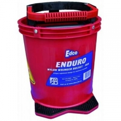 Enduro Nylon Wringer Mop Bucket Red
