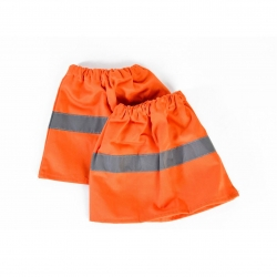 Orange cotton drill bowyang with reflective trim