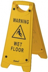 Warning Wet Floor A Frame Sign - Yellow