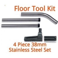 38mm Stainless Steel Floor Head and Wand Kit