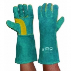 Green & Gold Kevlar Welding Gloves Left Hand Pair