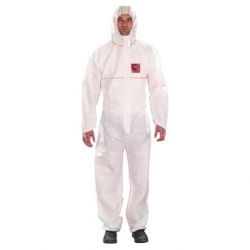 Microguard 1500 Plus Fire Retardant Coveralls White 2XL