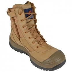 High Leg Zip Side Safety Boot