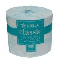 Stella 1Ply 1000Sheet Toilet Tissue