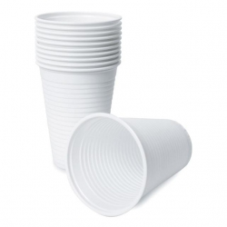 Drinking Cups - Plastic (200ml/White)