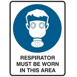 Respirator Must be Worn In This Area 600x450