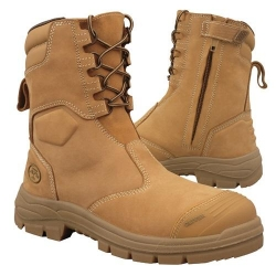 High Leg Zip Sided Safety Boot