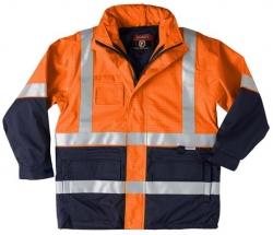 Platinum Hi-Vis safety jacket with reflective tape, Orange/Navy