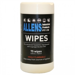 Allens Wipes 70% ISO Propyl 75wipes