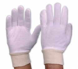 Interlock Poly/Cotton Liner Glove With Knitted Wrist