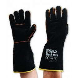 Black & Gold Kevlar Welding Gloves