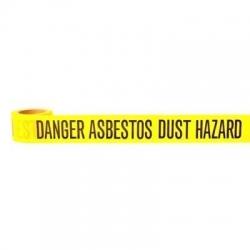 Danger Asbestos Dust Hazard Barrier Tape 50m