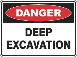 Danger Confined Space Permit Sign
