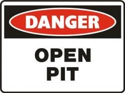 Danger Open Pit 450x300