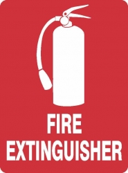 Fire Extinguisher with Picture Sign