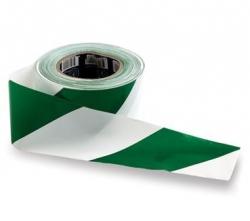 Barricade Tape Green/White