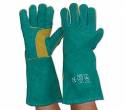 Green & Gold Kevlar Welding Gloves
