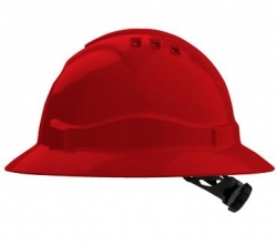 Pro Choice V6 Full Brim Hard Hat - Red