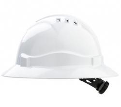 Pro Choice V6 Full Brim Hard Hat - White